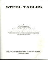 + Steel Tables + Dhanpatrai Books